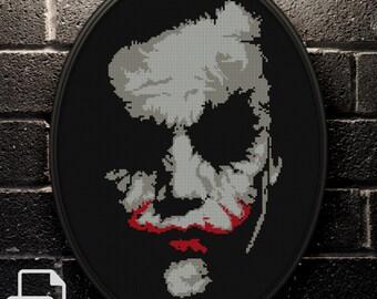 Joker Cross Stitch Pattern INSTANT DOWNLOAD