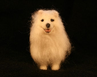 Miniature Needle Felted Samoyed