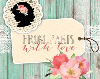 From Paris With Love - Custom Etsy Shop Set