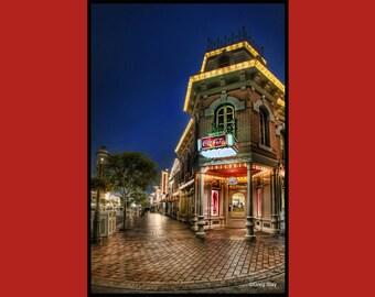 Disneyland  Main Street Refreshment Corner Coca-Cola, BUY 2 GET 1 8x12 print free !!! Metallic Paper  / Metal Print