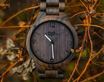 Elegant Handmade Men Wooden Watch Made from Exotic Sandal Wood With Czech Design
