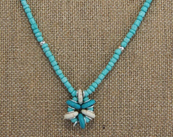 Hat Catch Necklace (r) - Beachy Bead Flower
