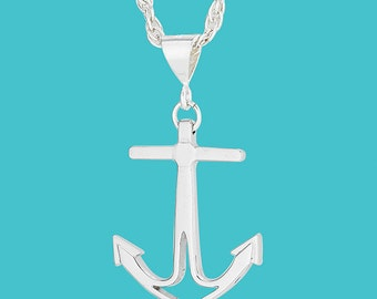 Anchor Necklace - Sterling Silver - Small