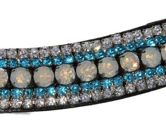 Mega Bling Browband Crystal AB & Turquoise