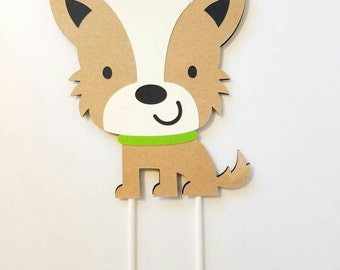Terrier Puppy Cake Topper