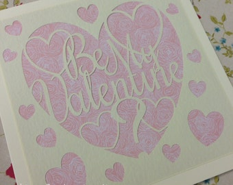 Valentine Paper Cutting Template - Commercial Use
