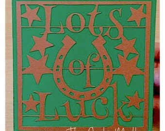 Lots Of Luck Paper Cutting Template - Commercial Use