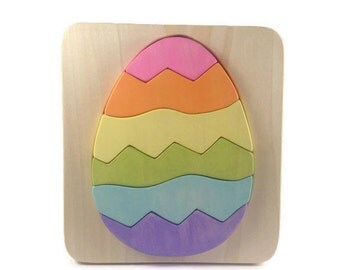 Easter Egg - Wooden Puzzle - Easter Gifts for Kids - Wood Toy - Easter Basket Gift - Montessori Materials - Waldorf Toy - Wooden Easter Eggs