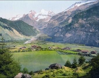 24x36 Poster . Kandersteg Um 1900 Switzerland Photochrom