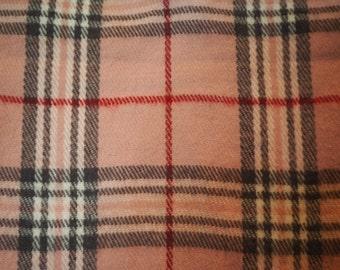 Pink Woolen Tartan Scarf //EARLY 90's