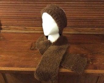 Alpaca scarf and Ear warmer Headband