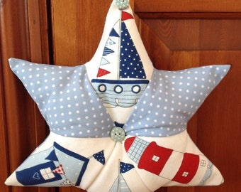 Hanging patchwork star
