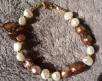 Freshwater baroque pearls