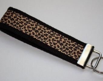 Cheetah Key Fob/Key Chain Wristlet