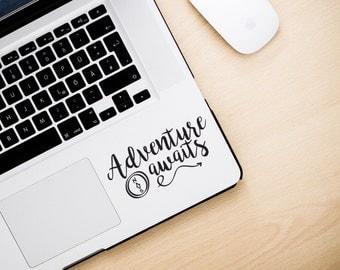 Adventure Awaits Apple Macbook Keyboard Decal