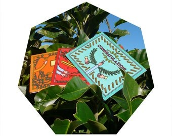 """Greeting cards-""""Alternative Best Wishes""""-3 variants-with envelope-style fresh, new, original"""