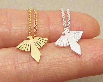 Eagle Necklace, Flying Eagle Necklace, Eagle Wing Necklace, Bird Necklace, Eagle Charm Necklace, Bridesmaid Necklace, Christmas Gift NB839