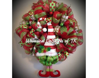"Whimsical ""Elf"" Wreath"