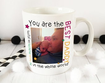 Best Daddy photo ceramic Mug
