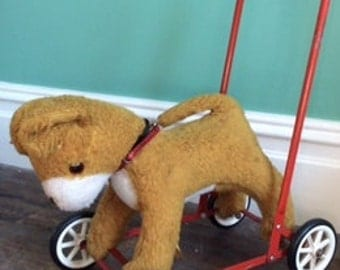 Vintage Dog on wheels By Deans childsplay toys ltd 60s / 70s