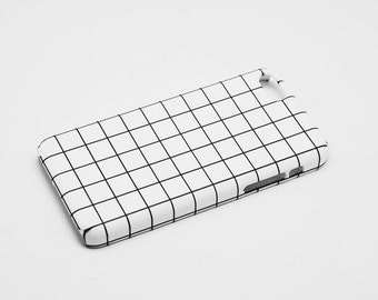The Grid - Monochrome - Full printed case for iPhone - by HeartOnMyFingers - CMB-026