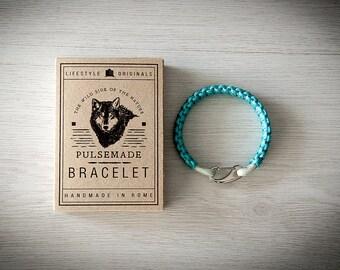 Crab Bracelet men-Women, jewelry for men women, urban bracelet turquoise-silver grey, Valentine's Day gift, bracelet for her and him