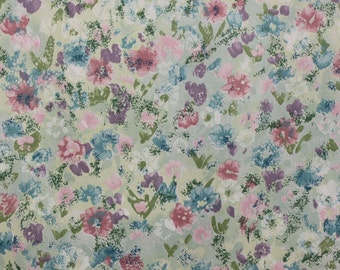 FABRIC Floral Cotton Pastel juvenile Print, The Mardis Gras Coll By Swavelle Mill Creek, For Drapery, Betting, Dress, Decor, Pillows,