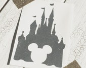 NEW! Disney Castle Vinyl Decal with Mickey Mouse Cut Out | Disney Decal | Cinderella Castle Decal | Disney Car Decal | Disney Laptop Decal