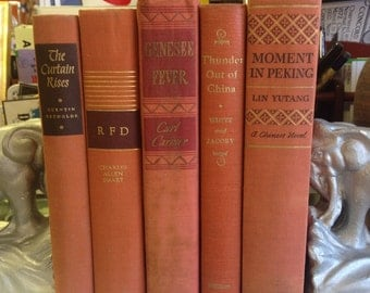 Instant Library Vintage Orange Book Collection