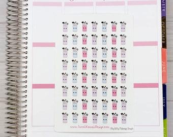 Itty Bitty Kawaii Makeup Brushes Stickers