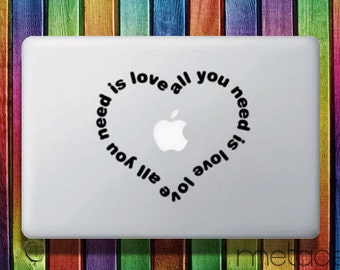 """Need Love Macbook Sticker Decal for 11"""", 13"""" and 15"""" - laptop stickers, macbook stickers, macbook decals, macbook sticker, macbook pro"""