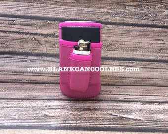 5-Pack of blank CAN COOLERS with cig/lighter pocket