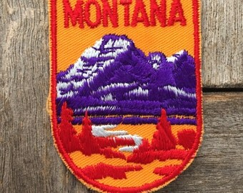 LAST ONE! Montana Vintage Souvenir Travel Patch from Voyager - New In Original Package