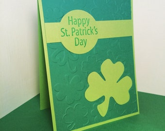 st. patrick's day green shamrock card
