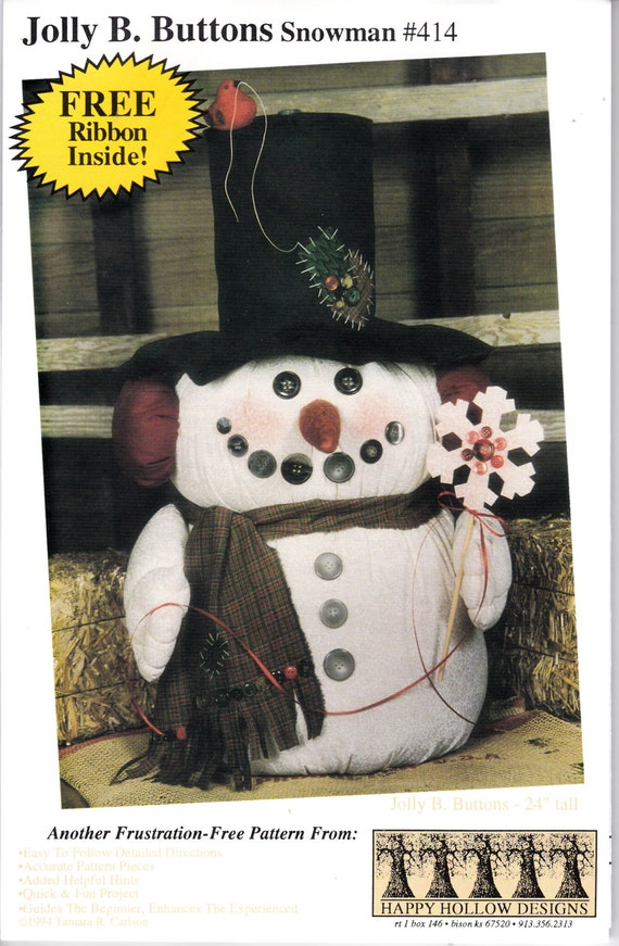 Country snowman pattern craft pattern for sewing craft for Free craft show listings