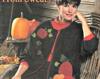 Vintage Knitting Pattern, Leisure Arts Seasonal Cardigans From Sweats, Cardigan Knitting Patterns, Sweater Knitting Patterns