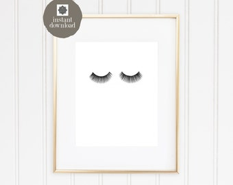 8x10 Eyelashes - Office Print, INSTANT DOWNLOAD