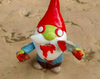 Halloween 'zombie pocket gnome'. Very gruesome! (Small defect)