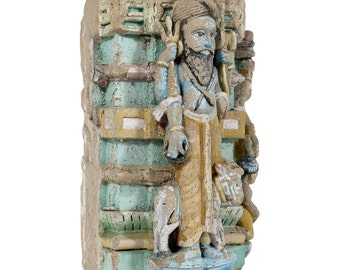 18th Century Stone Temple Carving, Stone Carving, Stone Statue, Carved stone statue,garden statue, Indian statue, stone Column, Garden Table
