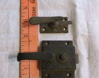 Vintage Pair Door Latch Mechanism