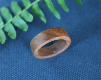 Hand Turned Wood Ring 7