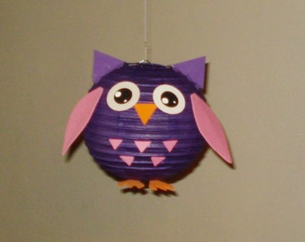 OWL Paper Lantern. Party Decorations, Baby Shower, Room Decor, nursery decor.