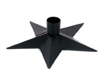 Black Star Taper Holder