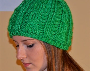 KIDS Holiday Knit Cable Beanie