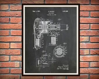 Patent 1931 Hair Dryer - Art Print - Poster - Barber Shop Art - Hair Salon Wall Art - Hairdresser Art - Beautician Art - Beauty Parlor Art