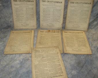 7 Issues Chautauquan 1882 1883 Monthly Magazine Culture Literary Scientific