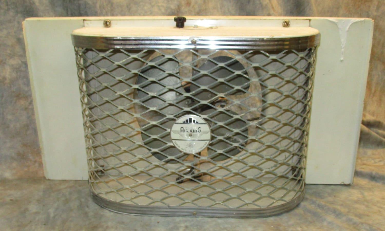 Box Fan Air King : Berns air king metal cage box attic fan reversible exhaust