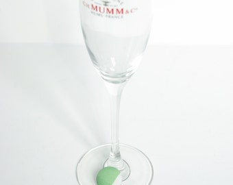 Wine glass markers - Covered button wine glass markers - Set of four