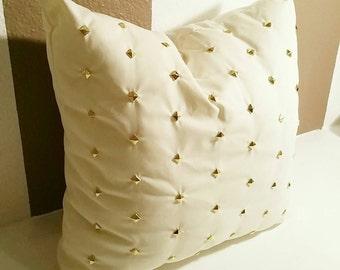 """18""""x18"""" Diamond Pillow Cover, White"""