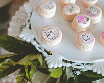 Macarons, French Macarons, Macaron, Custom Macarons, Macaron Party, Desserts, Hand Painted Macarons